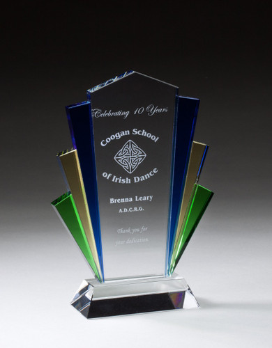 color glass accent radiance award