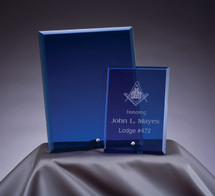 blue glass bevel award