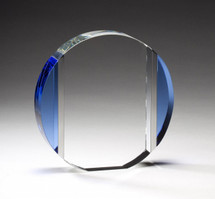 Cool Blue Optical Crystal Award