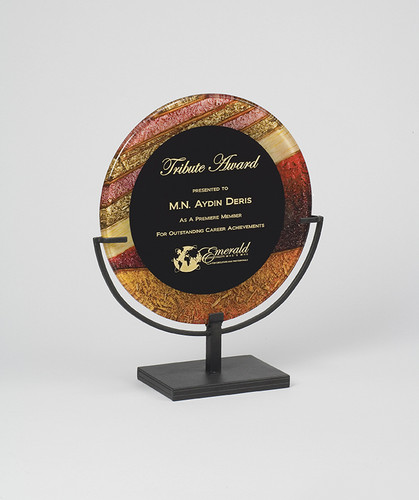 Autumn Harvest Acrylic Award with Iron Stand