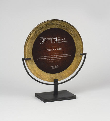 Designer Gold and Burgandy Acrylic Award