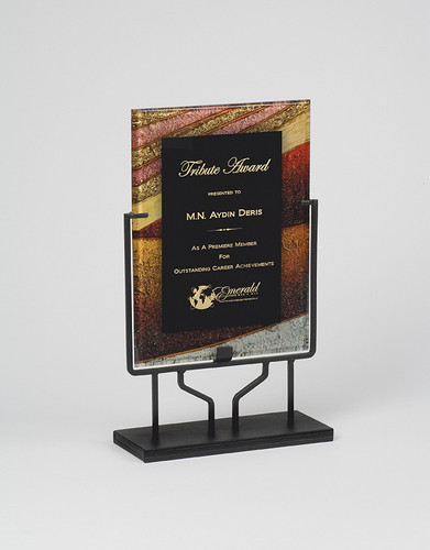 Autumn Harvest Rectangular Acrylic Award with Stand