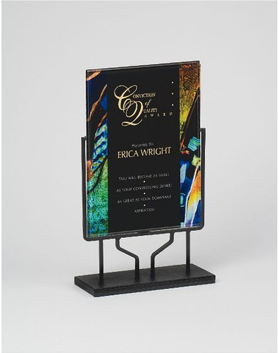 Artistic Rectangular Acrylic Award with Stand