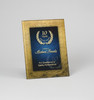Designer Gold and Blue Rectangular Acrylic Award