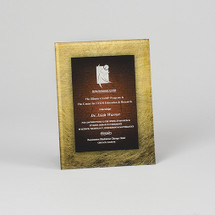 Designer Gold and Burgundy Rectangular Acrylic Award