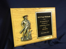 Customized Minuteman Relief Plaque
