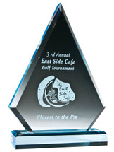 Engraved Triangle Acrylic Award - Sapphire Series