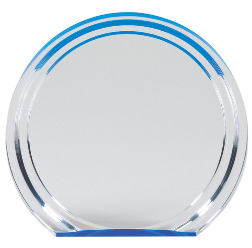 Blue Round Double Halo Award