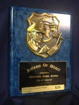Custom Police Award Plaque