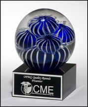 Blue and White Art Glass Globe