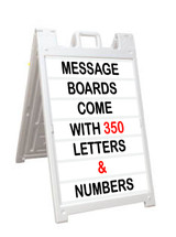 A Frame Message Boards with Track Letters