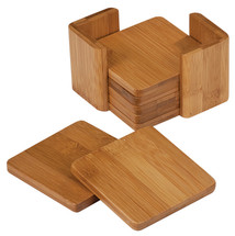 Bamboo 5 Square Coaster Set