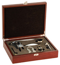 5 Piece Rosewood Wine Tool Set