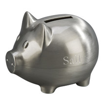 personalized engraved small piggy bank
