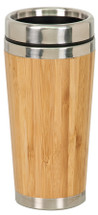 Bamboo Laserable Stainless Steel Travel Mug without Handle