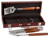 Rosewood BBQ Set in Rosewood Finish Case