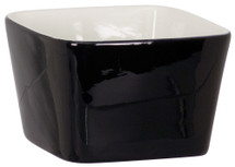 "4"" x 4"" Black Ceramic Snack or Pet Bowl"
