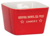 "4"" x 4"" Red Ceramic Snack or Pet Bowl"