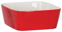 Red Ceramic Snack or Pet Bowl