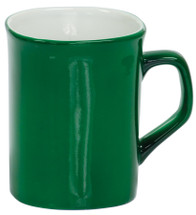 10 oz Green Ceramic Rounded Corner Coffee Mug