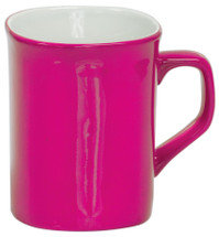10 oz Pink Ceramic Rounded Corner Coffee Mug