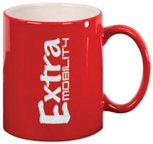 11 oz Red Ceramic Round Coffee Mug