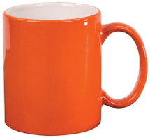 11 oz Orange Ceramic Round Coffee Mug