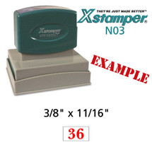 N03 XStamper Custom Self Inking Rubber Stamp