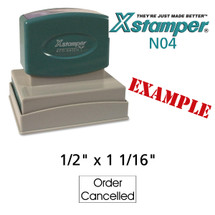 N04 XStamper Custom Self Inking Rubber Stamp