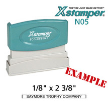 N05 XStamper Custom Self Inking Rubber Stamp