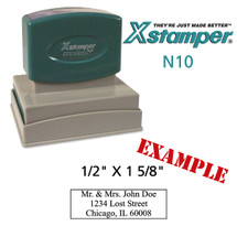 N10 XStamper Custom Self Inking Rubber Stamp