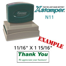 N11 XStamper Custom Self Inking Rubber Stamp