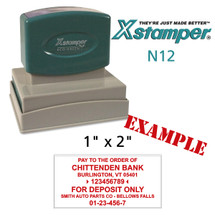 N12 XStamper Custom Self Inking Rubber Stamp