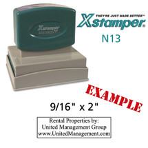 N13 XStamper Custom Self Inking Rubber Stamp