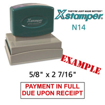 N14 XStamper Custom Self Inking Rubber Stamp