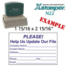 N22 XStamper Custom Self Inking Rubber Stamp