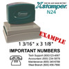 N24 XStamper Custom Self Inking Rubber Stamp