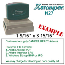 N27 XStamper Custom Self Inking Rubber Stamp