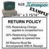 N28 XStamper Custom Self Inking Rubber Stamp