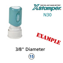 N30 XStamper Custom Self Inking Rubber Stamp