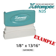 N35 XStamper Custom Self Inking Rubber Stamp