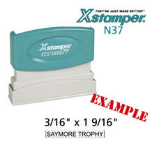 N37 XStamper Custom Self Inking Rubber Stamp