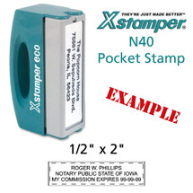 N40 XStamper Custom Self Inking Rubber Stamp