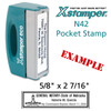 N42 XStamper Custom Self Inking Rubber Stamp