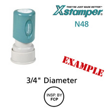 N48 XStamper Custom Self Inking Rubber Stamp