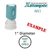 N51 XStamper Custom Self Inking Rubber Stamp