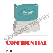 "Pre-Inked Stock Stamp ""CONFIDENTIAL"" (RED) - Impression Size: 1/2"" x 1-5/8"""