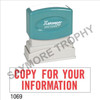 """Pre-Inked Stock Stamp """"COPY FOR YOUR INFORMATION"""" (RED) - Impression Size: 1/2"""" x 1-5/8"""""""