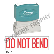 "Pre-Inked Stock Stamp ""DO NOT BEND"" (RED) - Impression Size: 1/2"" x 1-5/8"""