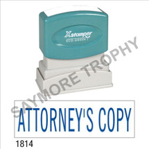 "Pre-Inked Stock Stamp ""ATTORNEY'S COPY"" (BLUE) - Impression Size: 1/2"" x 1-5/8"""